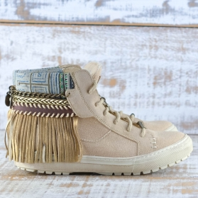 SNEAKERS BOHO CANVAS LINO - TALLA 41