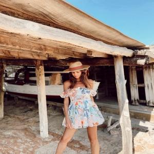 Infinite beauty 💎🦋@ana.vide in our Isla hat #endlesssummer #ibiza #bohemia