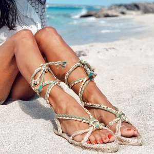Sunshine & our Formentera rope sandals #summeressentials  . Now on sale on our boutique online 📲🛍✨  . #ibiza #love #summer #feeling #boho