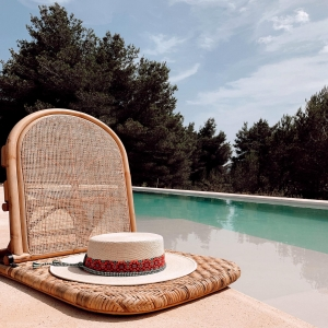 🌾Relaxing Sundays under the sun in my Isla hat ☀️#home #relax #ibiza